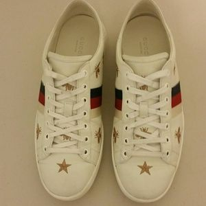GUCCI Ace Convertible Heel Sneakers Bees and Stars